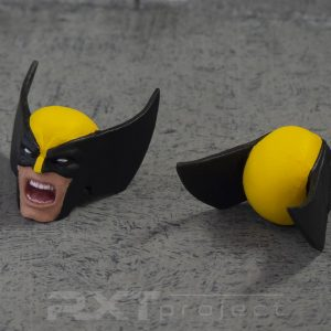 Custom Screaming Head Sculpt Mafex Wolverine