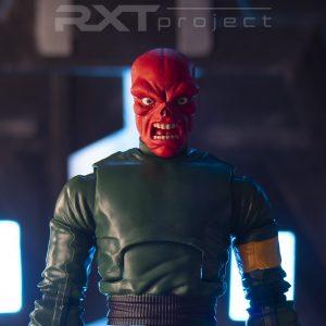 Custom Classic Red Skull Angry Head Sculpt